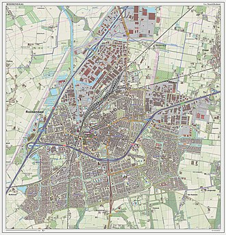 Roosendaal - Dutch Topographic map of Roosendaal (place), as of March 2014.
