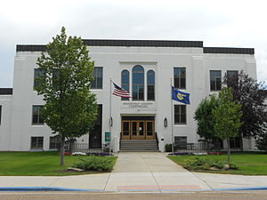 Roosevelt County, Montana - Image: Roosevelt County Courthouse Wolf Point MT