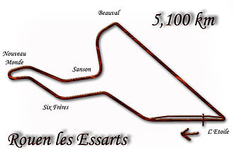 1952 French Grand Prix - Image: Rouen les Essarts