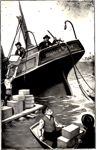 Rover Boys - Image appearing on DJVU page 6 (frontispiece) of Rover Boys on Land and Sea. (1903)
