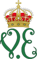 Royal Monogram of King Victor Emmanuel II of Italy.svg