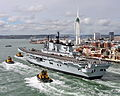 Royal Navy Aircraft Carrier HMS Illustrious Returns To Portsmouth Folllowing Refit MOD 45152943.jpg