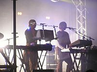 Royksopp in performance (Fuji Rock Festival, Naeba, Niigata, Japan - summer of 2005).jpg