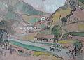Rudolf Heinisch, Landschaftsskizze - Im Gebirge, 1929.JPG