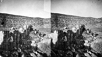 San Juan County, Utah - Ruins in Montezuma Canyon with stones of unusual size San Juan County, Utah