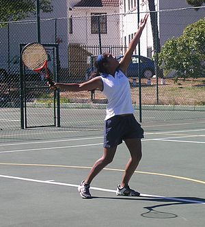 Rustenburg School for Girls - A Rustenburg tennis player at the 2006 Interschools Tennis