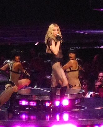 "Vogue (Madonna song) - Madonna performing ""Vogue"" on the Sticky & Sweet Tour."