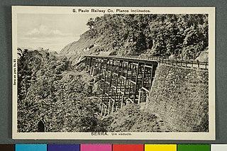 S. Paulo Railway Co. Planos Inclinados. - Serra. um Viaducto