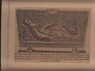 Vincenzo, Martyr of Craco - S. Vincenzo Woodcut