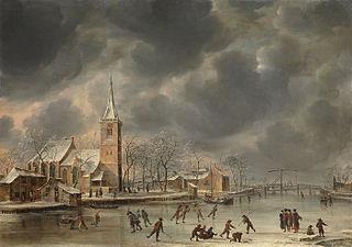 Wintergezicht (Ouderkerk aan de Amstel?)