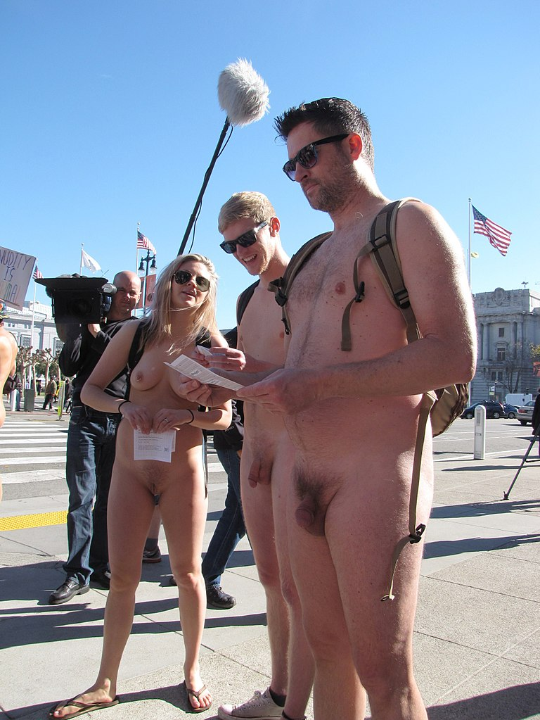 naked protest pic much