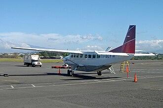 Sansa Airlines - A Sansa Airlines Cessna 208 Caravan at Juan Santamaría International Airport