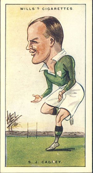Irish Rugby Football Union - Image: SJ Cagney Wills Card