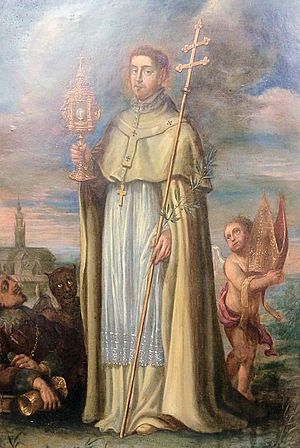 Norbert of Xanten - Saint Norbert of Xanten, with the St. Michael's Abbey, Antwerp