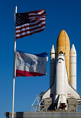 STS-130 - Endeavour arrives at Pad 39A on 6 January 2010 for the STS 130 mission.