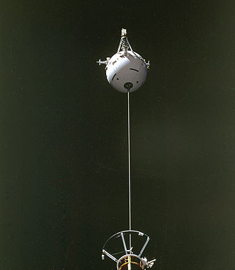 Italian Space Agency -  TSS-1, a tethered satellite, being deployed on STS-46