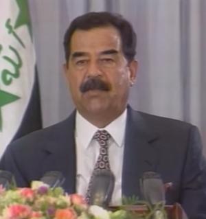 Snowclone - Image: Saddam Hussein in 1996