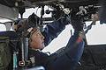 Sailor conducts Seahawk maintenance aboard USS Theodore Roosevelt 141103-N-CQ428-223.jpg