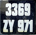 "Saint-Barthélemy — license plate ""3369ZY971"" (cropped).JPG"