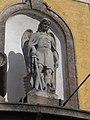 Saint Michael Church, Saint Michael statue above the portal, 2016 Dunakeszi.jpg