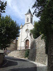 The church in Saint-Victor-de-Malcap