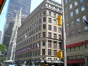 The flagship Saks Fifth Avenue store in Manhattan.