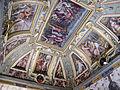 Sala di cosimo il vecchio, soffitto, afferschi di vasari e marco marchetti 01.JPG