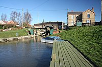 Salters Lode bridge and lock.jpg