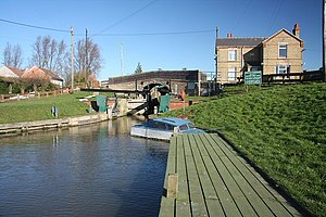 Downham West - Image: Salters Lode bridge and lock