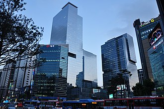 Samsung - Samsung Town in the Gangnam Station area in Seoul, South Korea