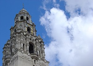 A tower in Balboa Park, San Diego