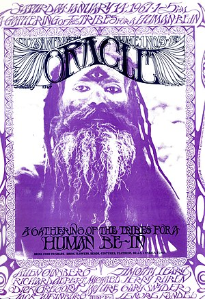 Psychedelic art - Cover of the San Francisco Oracle, Volume 1 No.5, January 1967.