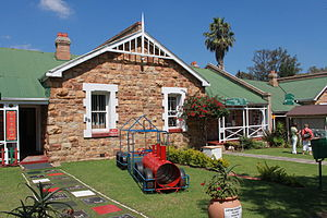 Cullinan, Gauteng - A sandstone house now being used as a restaurant.