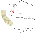 Santa Barbara County California Incorporated and Unincorporated areas Lompoc Highlighted.svg