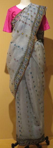 File:Sari from Madhya Pradesh, India, Honolulu Museum of Art 3965.1.JPG