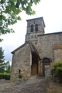 Sarragachies - clocher église.JPG