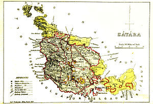 Satara district - Satara district in 1884
