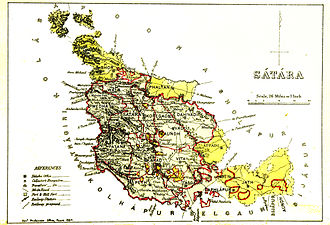 Satara district - Satara district in 1884