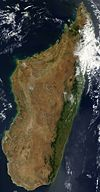 Photo satellite de Madagascar en Septembre 2003
