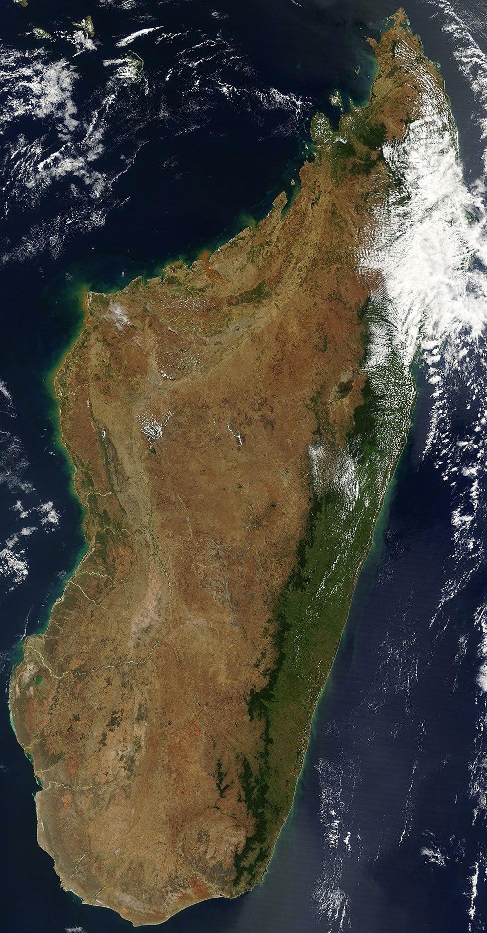 Satellite image of Madagascar in September 2003