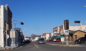 Sauk City, Wisconsin - Image: Sauk City Wisconsin Downtown WIS78
