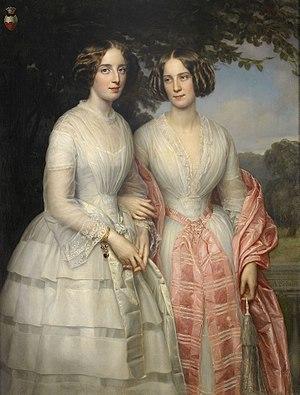 August Schiøtt - The Reventlow Sisters, Malvina and Hilda