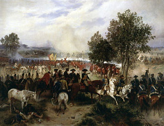 Battle of Krefeld - The Battle of Krefeld on a painting by Emil Hünten