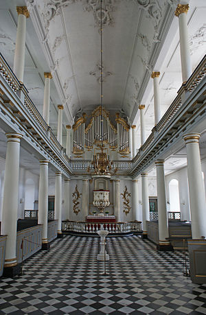 Augustenborg Palace - The church of Augustenborg Palace.