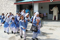 Schoolgirls in Shalwar Kameez, Abbotabad Pakistan - UK International Development