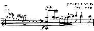 Cello Concerto No. 1 (Haydn) - Entrance of solo cello