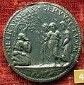 Scuola romana, medaglia di ippolito d'este, abramo e tre angeli.JPG