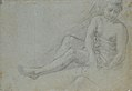 Seated Crowned Male Figure Holding a Book or Scroll (recto); Seated Nude Boy (verso) MET 1971.63.2 VERSO.jpg