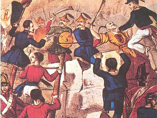 広州に侵入する英仏連合軍