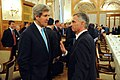 Secretary Kerry Chats With Swiss Federation President Burkhalter at Geneva II Conference (12089069134).jpg